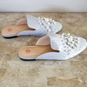 Silver Pearl Mules